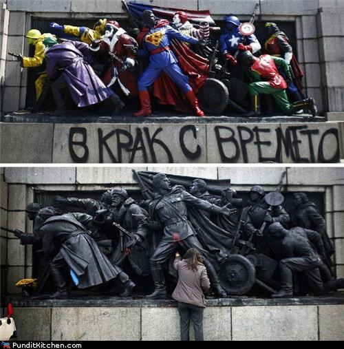bulgaria,comics,grafitti,political pictures,soviet union,vandalism