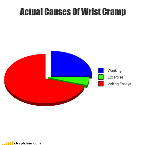 essays,faptimes,Pie Chart,school,wrist cramp