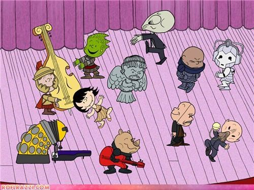 Doctor Who As The Peanuts Gang