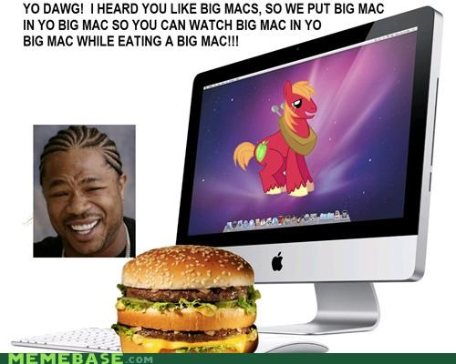 big macs,Bronies,computer,food,mac,McDonald's,yo dawg