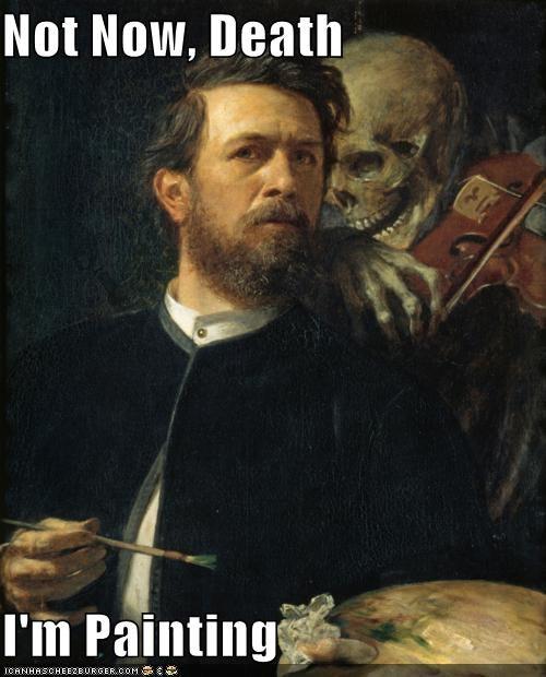 art,color,Death,funny,painting,portrait