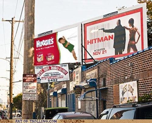 Ad,billboard,diapers,hitman,huggies,shopped