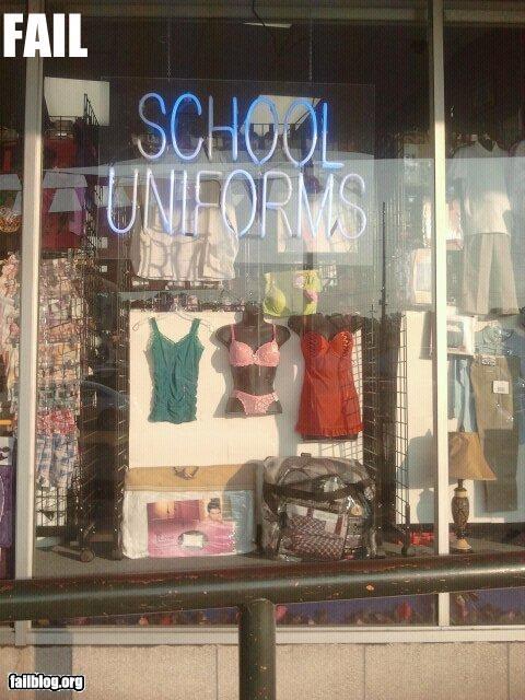 School Uniforms FAIL