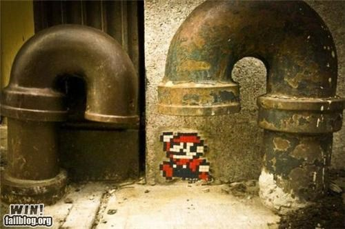 Hacked IRL: Super Mario Between Pipes