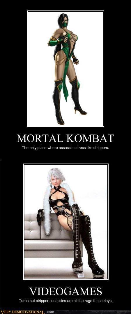 hilarious,Mortal Kombat,stripper assassins,video games