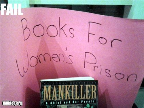 books,charity,failboat,g rated,irony,prison