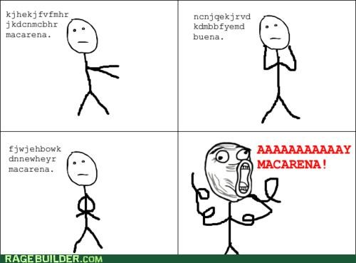 lyrics,Macarena,Rage Comics,Songs