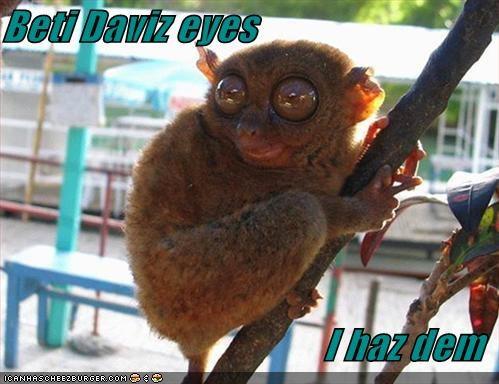 Beti Daviz eyes  I haz dem