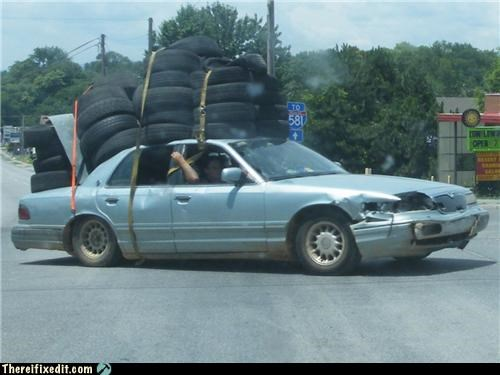 holding it up,overkill,tires,towing
