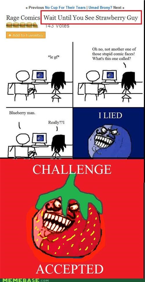 blueberry,fruit,i lied,new,Rage Comics,Reframe,strawberry