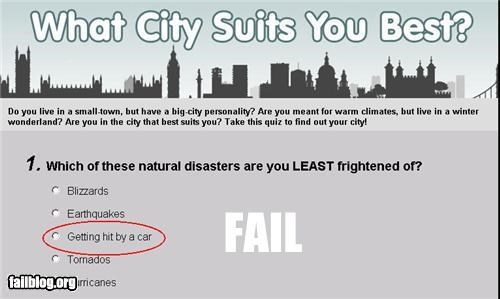 Natural Disaster FAIL