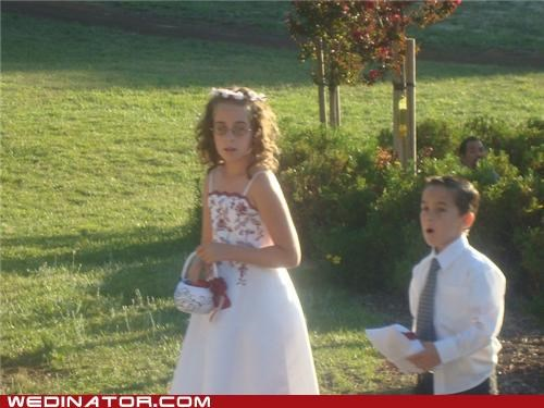 flower girl,funny wedding photos,Hall of Fame,pedobear,photobomb,ring bearer