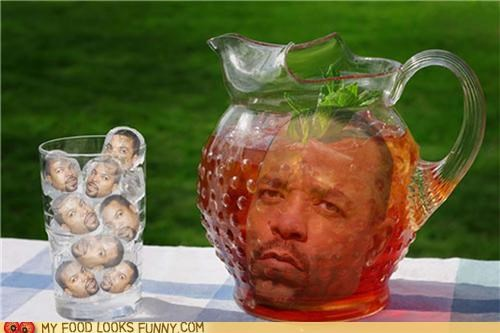 Ice Tea With Ice Cubes