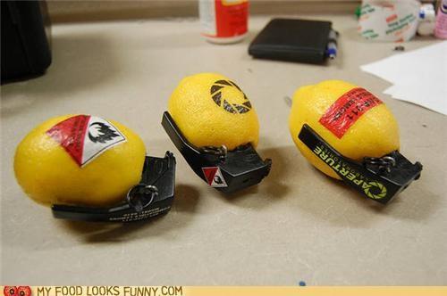 aperture,grenade,lemon,Portal,video game