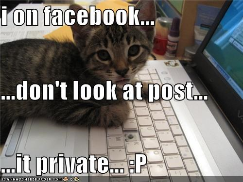 i on facebook... ...don't look at post... ...it private... :P