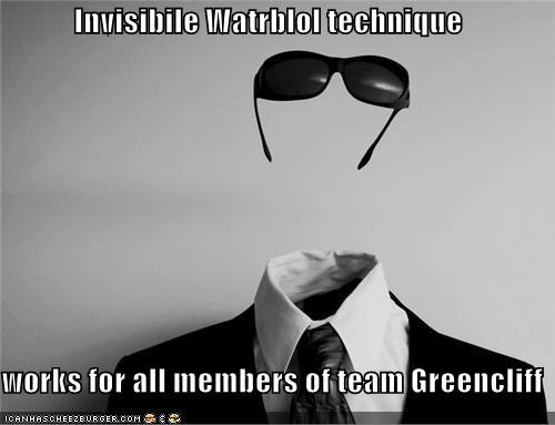 Invisibile Watrblol technique  works for all members of team Greencliff