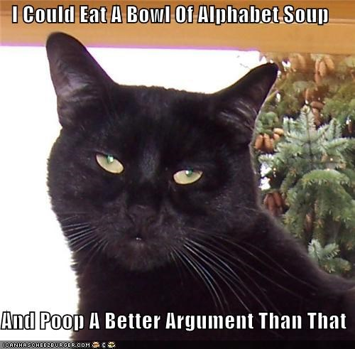 I Could Eat A Bowl Of Alphabet Soup  And Poop A Better Argument Than That