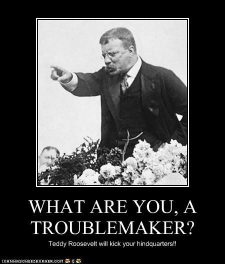 WHAT ARE YOU, A TROUBLEMAKER?