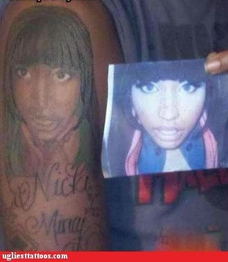 Not That There's Such a Thing as a GOOD Nicki Minaj Tattoo