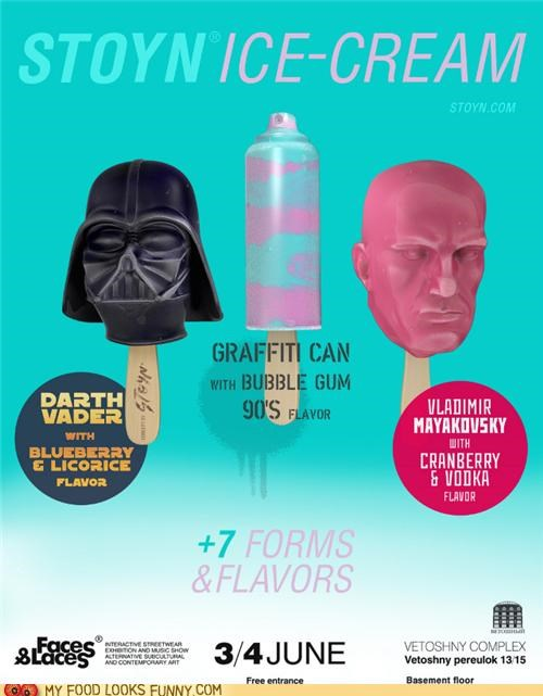 darth vader,ice cream,spray paint,stick,vladimir mayakovsky