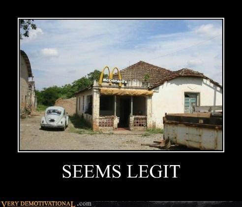 car,legit,McDonald's,Pure Awesome,wtf