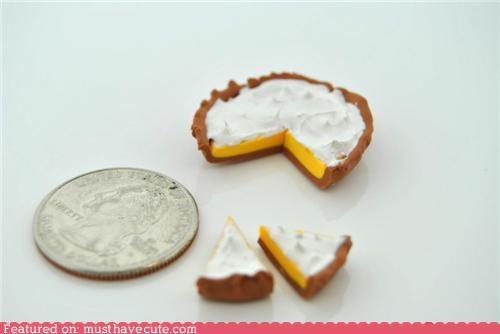 fake,inedible,lemon meringue,miniature,pie,tiny