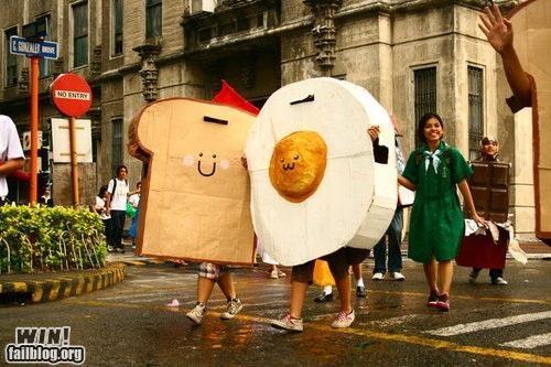 costume,parade,street,team breakfast food