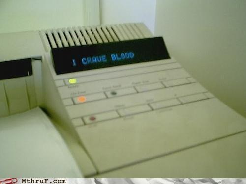 Blood,printer,vampire