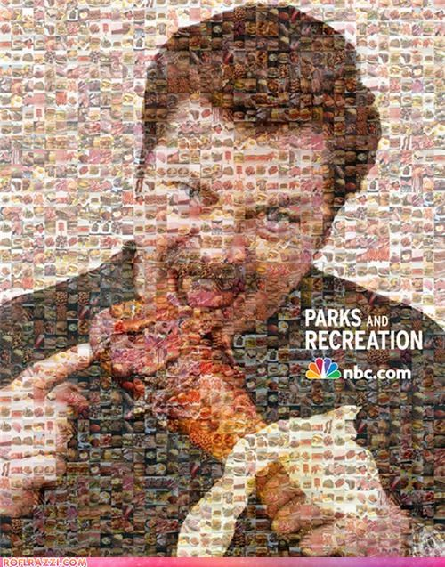 The Ron Swanson Food Mosaic