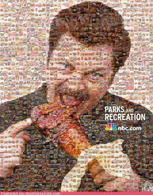 mosaic,Nick Offerman,parks and recreation,ron swanson,turkey leg