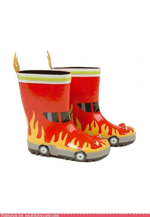 boots,fire,fire truck,kids,rainboots,wellies