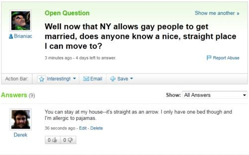 Looks Legit,same-sex marriage,yahoo answer