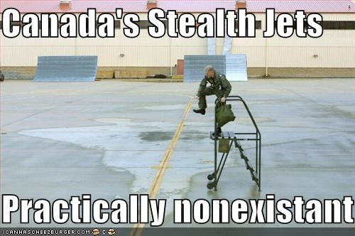 Canada's Stealth Jets  Practically nonexistant