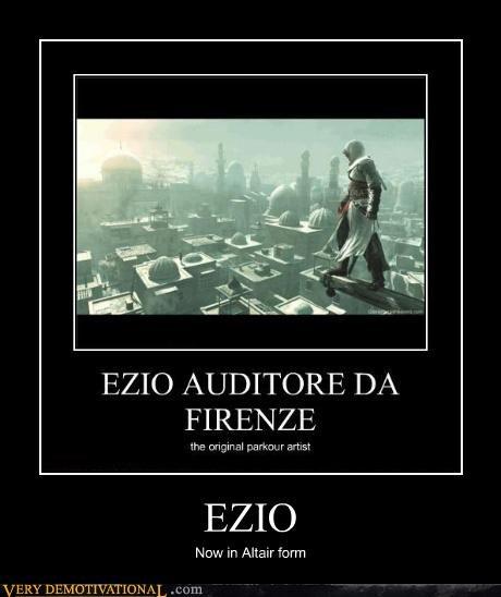 altair,assassins creed,ezio,idiots,video games
