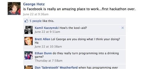 Hacker GeoHot Working for Facebook of the Day