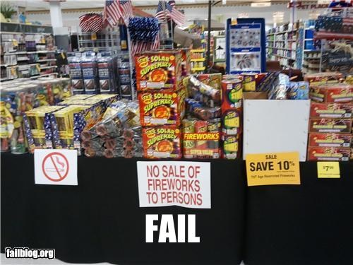 Firework Sale FAIL