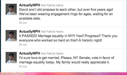 NPH Can Finally Get Married! Love Triumphs!