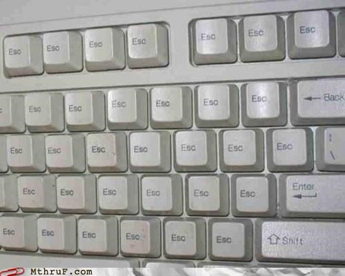 What the Keyboard Starts to Look Like as the Time for Clocking Out Gets Nearer