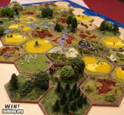 Settlers of Catan IRL WIN