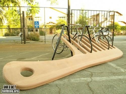 Clever Bike Rack Design WIN