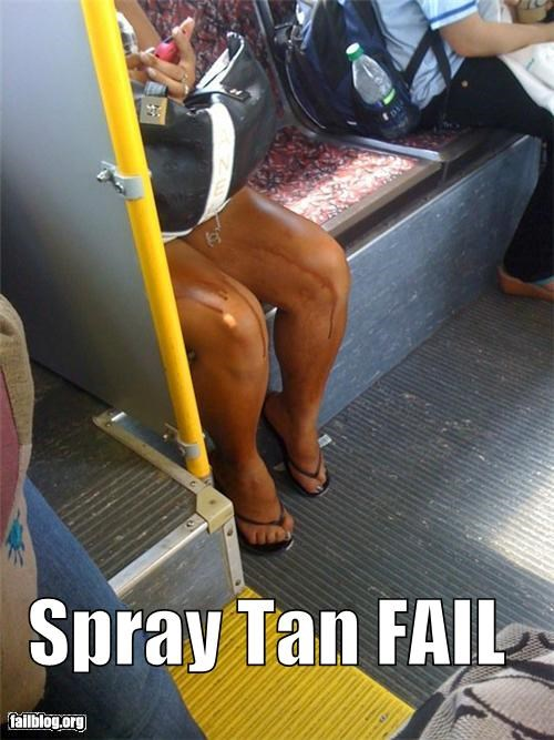 Spray Tan FAIL