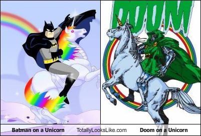 batman,comic books,doctor doom,doom,hero,unicorns,villain