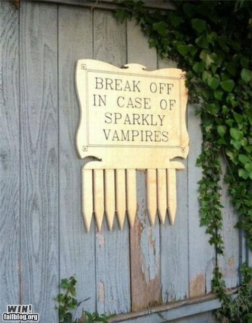 In case of Vampires WIN