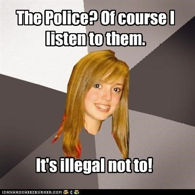 Musically Oblivious 8th Grader: Even If They Send a Message in a Bottle