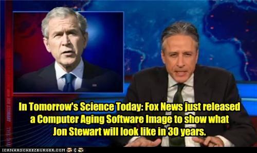 george w bush,jon stewart,political pictures