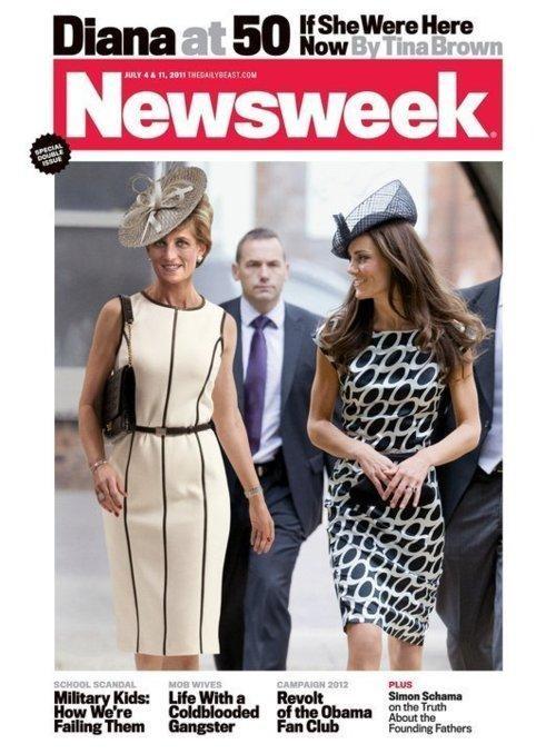Newsweek,princess diana,This Looks Shopped,Tina Brown