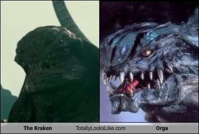 "The Kraken From ""Clash of the Titans"" (2010) Totally Looks Like Orga From ""Godzilla 2000"""