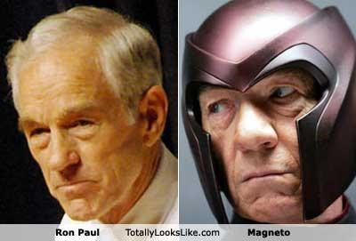 TLL Classics: Ron Paul Totally Looks Like Magneto