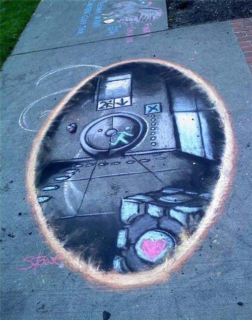 Portal Sidewalk Art of the Day