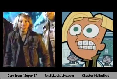 "Cary from ""Super 8"" Totally Looks Like Chester McBadbat From ""Fairly Odd Parents"""